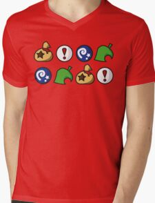 Animal Crossing Items 2 (in many colours!) Mens V-Neck T-Shirt