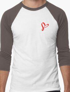 Simplistic Pixel Heart Men's Baseball ¾ T-Shirt