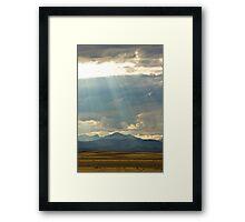 Shining Down Framed Print