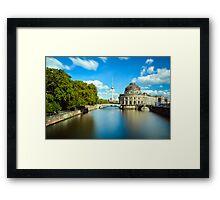 Museum island on Spree river, Berlin Framed Print