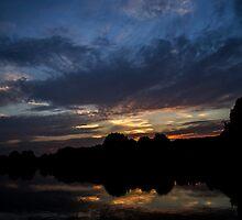 Langold Lake Sunset  by skid