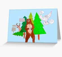 The Forest of Unbearable Puns Greeting Card