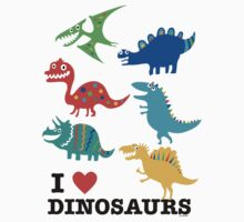 I love dinosaurs One Piece - Short Sleeve