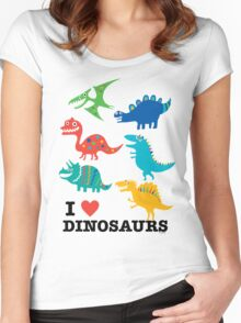 I love dinosaurs Women's Fitted Scoop T-Shirt