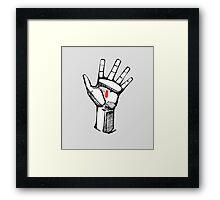 Jesus Christ hand illustration Framed Print