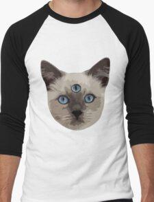 Good Vibes Cat - Original Men's Baseball ¾ T-Shirt
