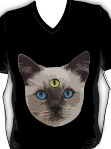 Good Vibes Cat - Yellow Eye T-Shirt