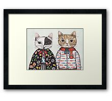 Kitty Couple Framed Print
