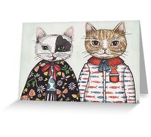 Kitty Couple Greeting Card