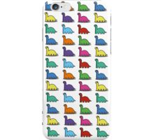 Multicoloured Dinosaurs iPhone Case/Skin