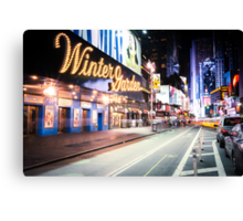 Times Square and Broadway at Night - New York City Canvas Print