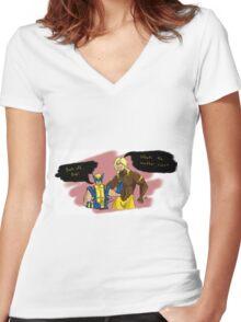 Back Off, Bub Women's Fitted V-Neck T-Shirt