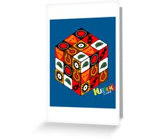 Kubrick Cube Greeting Card