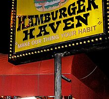 Hamburger Haven Sign by Rebecca Dru