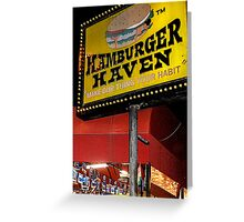Hamburger Haven Sign Greeting Card