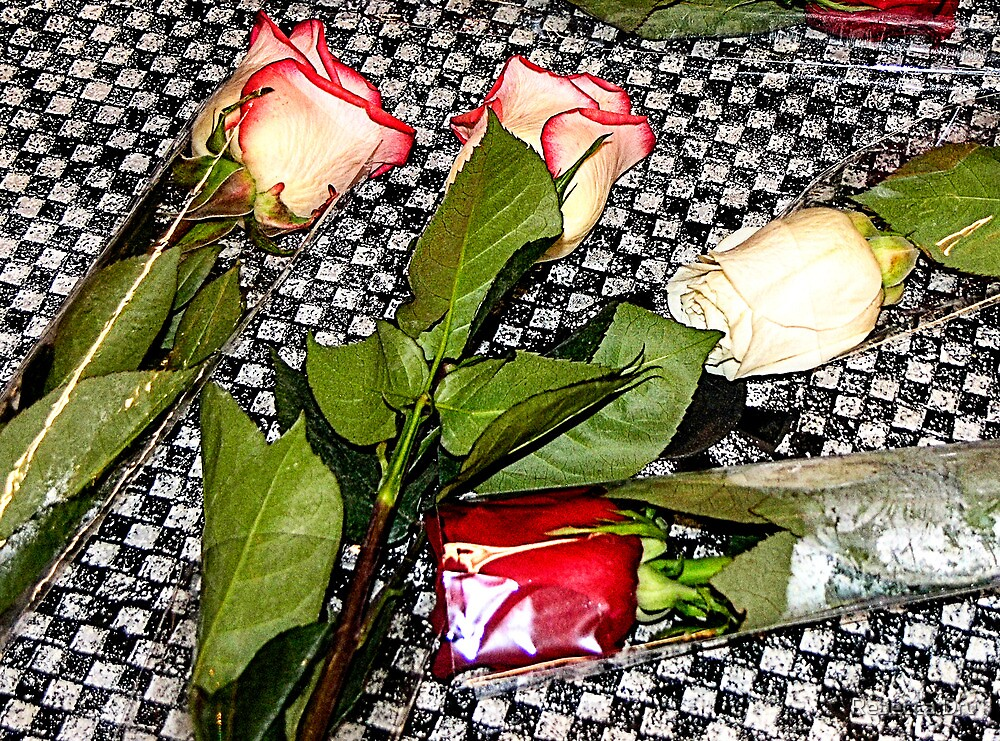 Roses on the Table by Rebecca Dru