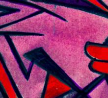 shuteye in red Sticker
