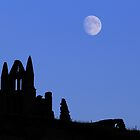 Whitby Abbey Moonrise by PaulBradley