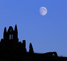 Whitby Abbey Moonrise by PaulBradley