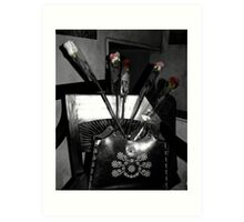 Roses in the Leather Purse Art Print