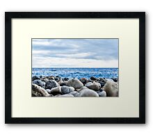 Stone's View Framed Print