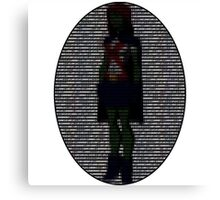 Miss Martian - Young Justice, Colored Binary Code Canvas Print