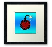 love bomb (cool) Framed Print