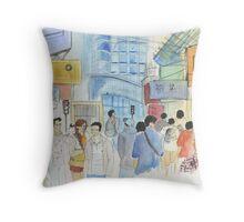 Streets of Hong Kong Throw Pillow