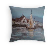 Fisherman's Harbor Throw Pillow