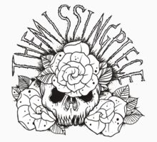 skull with roses Kids Tee