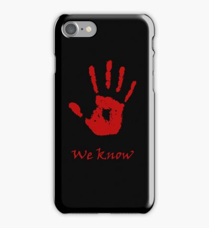 "Dark Brotherhood ""We Know"" (alt phone case) iPhone Case/Skin"