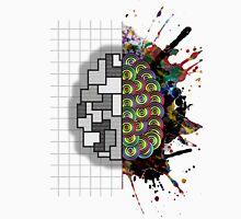 Left - Right Brain Platter Grid Unisex T-Shirt