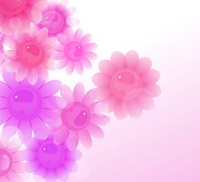 Pink romantic vintage flowers by silvianna