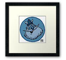 Blue Viking Framed Print