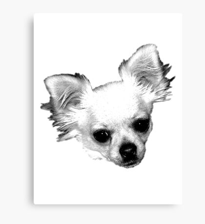 Chihuahua Dog Picture Engraving Canvas Print