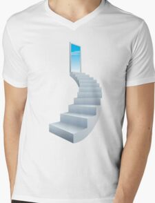 Infinity Ladder Mens V-Neck T-Shirt