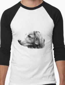 Duck Tolling Retriever Dog Engraving Men's Baseball ¾ T-Shirt