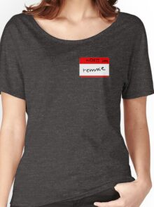 Temmie name tag Women's Relaxed Fit T-Shirt
