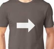 Right Arrow Unisex T-Shirt