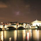 Paris & River Seine by night - the sky was alight by BBCsImagery