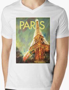 Paris: Eiffel Tower Mens V-Neck T-Shirt