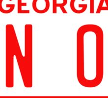Bandit BAN ONE Georgia License Plate Sticker