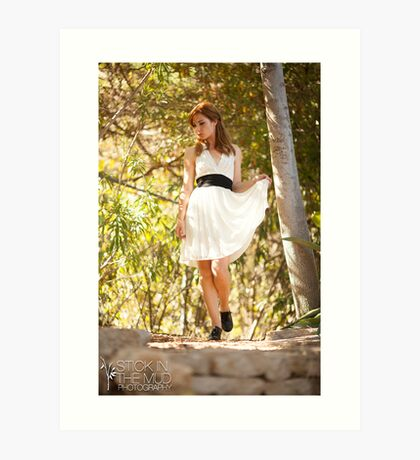 Ingrid's White Dress Art Print