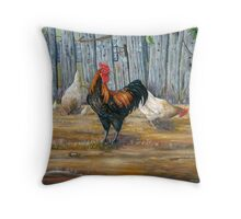 Boss of the yard Throw Pillow