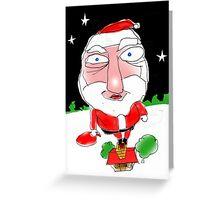 Santa on the chimney Greeting Card