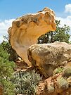 Interesting Rock in Capitol Reef National Park by Kenneth Keifer