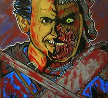 evil dead original painting good Ash mashed with bad Ash by gjniles