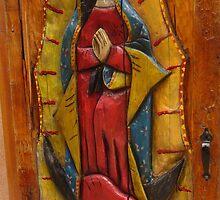 Door at El Bruno's in Cuba, New Mexico by Giamarie