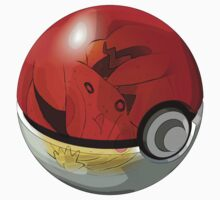 Pikachu in a Pokeball by saboe