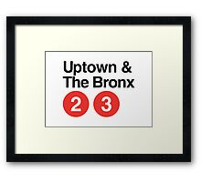 Uptown & The Bronx Framed Print